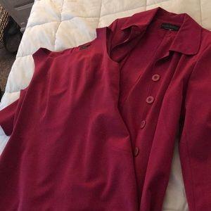 A-line fuschia dress suit